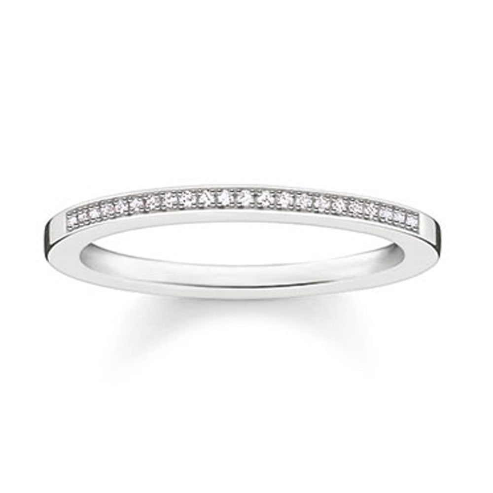 33011c5960d566 Thomas Sabo Glam and Soul Diamond Half Eternity Band Size 54 Product Code:  D_TR0006-725-14-54