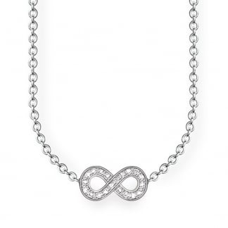 Glam and Soul Diamond Infinity Necklace