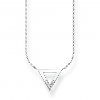 Glam and Soul Diamond Mini Triangle Necklace