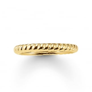 Glam and Soul Gold Rope Ring TR1978-413-12