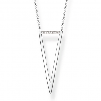 Glam and Soul Large Diamond Triangle Necklace