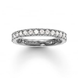 Glam and Soul Large Silver Eternity Ring TR1981-051-14