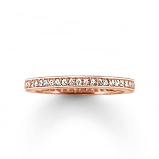 Glam and Soul Rose Gold Eternity Ring TR1983-416-14