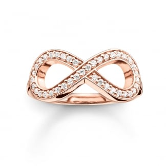 Glam and Soul Rose Gold Infinity Ring TR2014-416-14