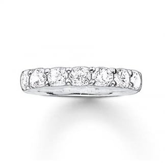 Glam and Soul Silver Chunky Eternity Ring TR1955-051-14