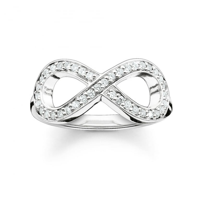 Thomas Sabo Glam and Soul Silver Stone Set Infinity Ring TR2014-051-14