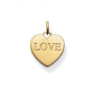Glam & Soul Gold 'Love' Heart Pendant PE436-413-12