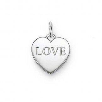 Glam & Soul 'Love' Heart Pendant PE436-001-12