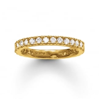 Gold Thick Eternity Ring TR1981-414-14