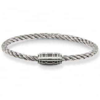 Grey Satin & Silver Clasp Bracelet UB0020-824-5