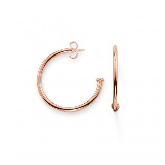 Karma Beads 25mm Rose Gold Hinged Hoops CR589-415-12