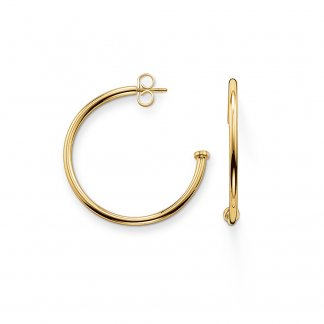 Karma Beads 30mm Gold Hinged Hoops CR590-413-12
