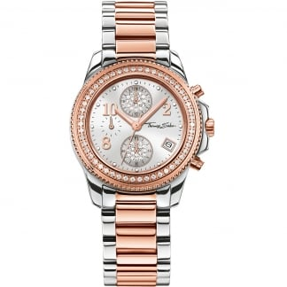 Ladies Glam And Soul Two Tone Chronograph Watch WA0241-272-201-33