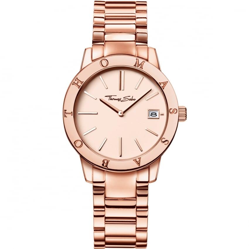 Thomas Sabo Ladies Rose Gold Glam And Soul Watch WA0175-265-208-33
