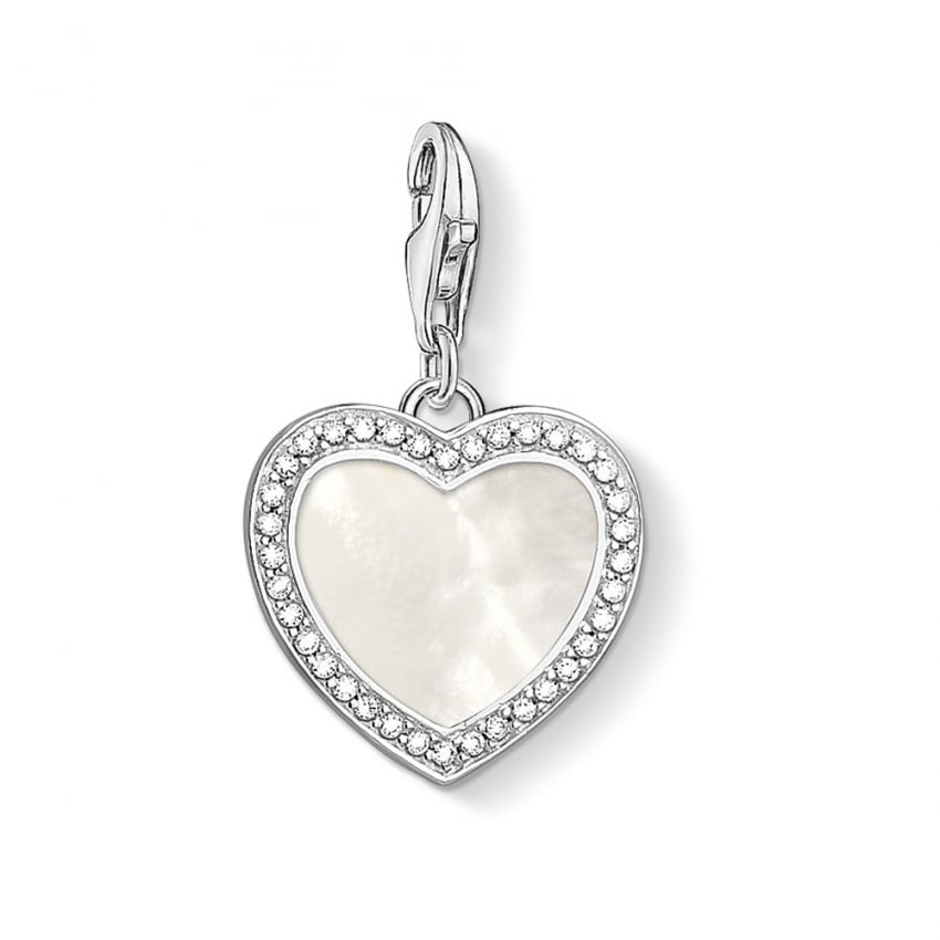 Thomas Sabo Mother of Pearl Heart Charm 1472-030-14