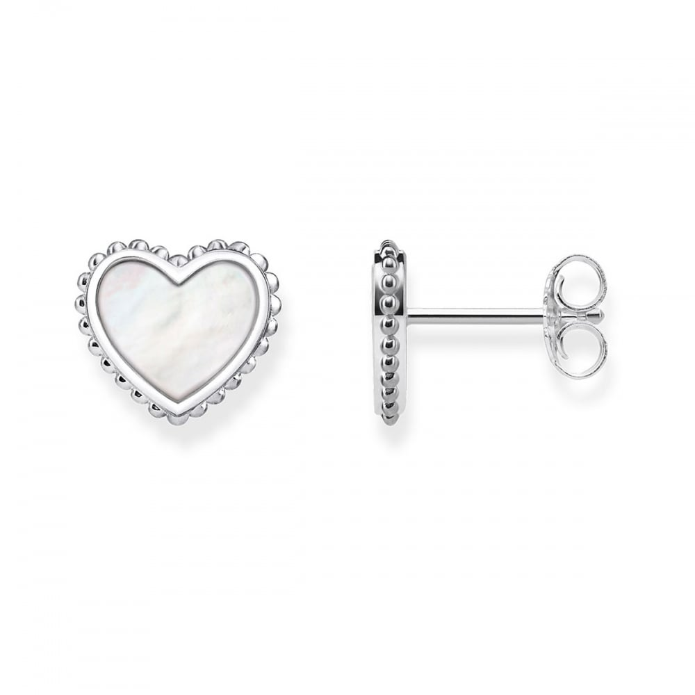 999d7a6fa Thomas Sabo Mother of Pearl Heart Earrings - Jewellery from Francis ...
