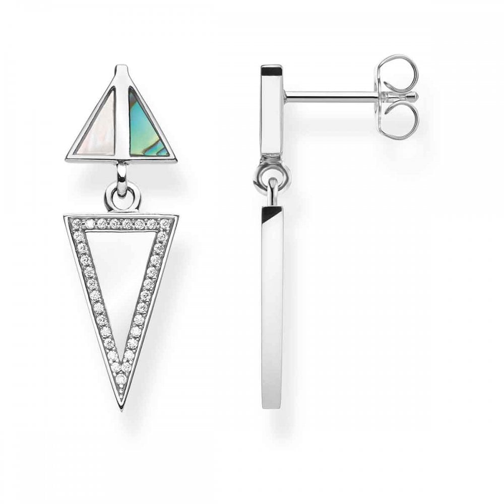 b2cd73e29 Thomas Sabo Mother of Pearl Triangle Ear Drops - Jewellery from ...