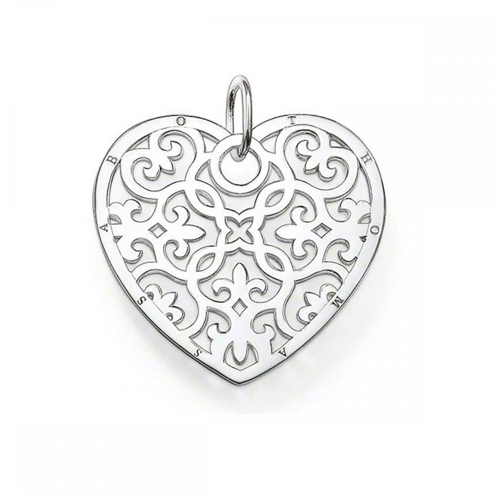 Thomas sabo ornate silver heart pendant jewellery from francis ornate silver heart pendant aloadofball Gallery