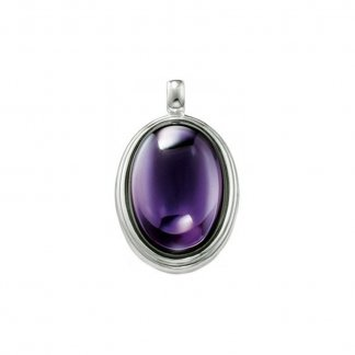 Oval Purple Stone Pendant PE363-051-13