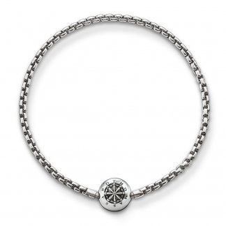 Oxidised Karma Bead Bracelet KA0002-001-12