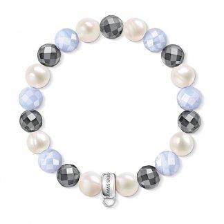 Pearl & Haematite Charm Bracelet X0193-602-7