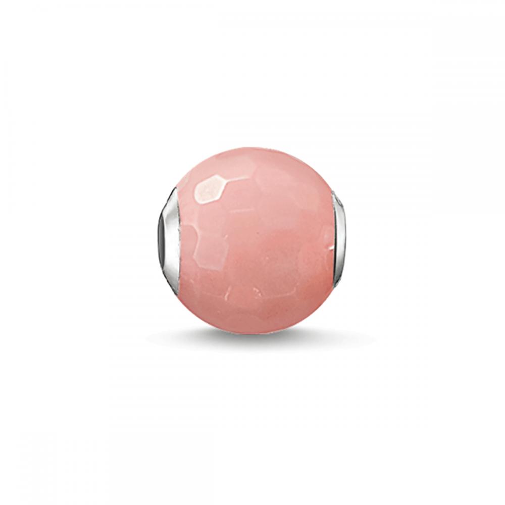 Thomas Sabo Pink Bamboo Coral Karma Bead - Jewellery from Francis ...