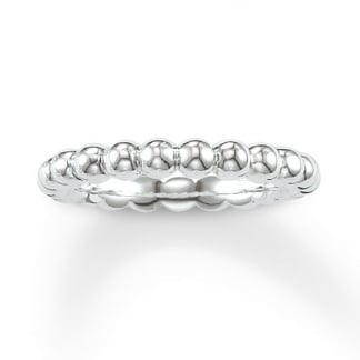 Plain Silver Glam and Soul Bobble Ring TR2046-001-12