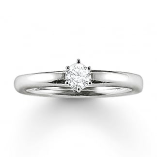 Plain Silver Glam and Soul Solitaire Ring TR1982-051-14