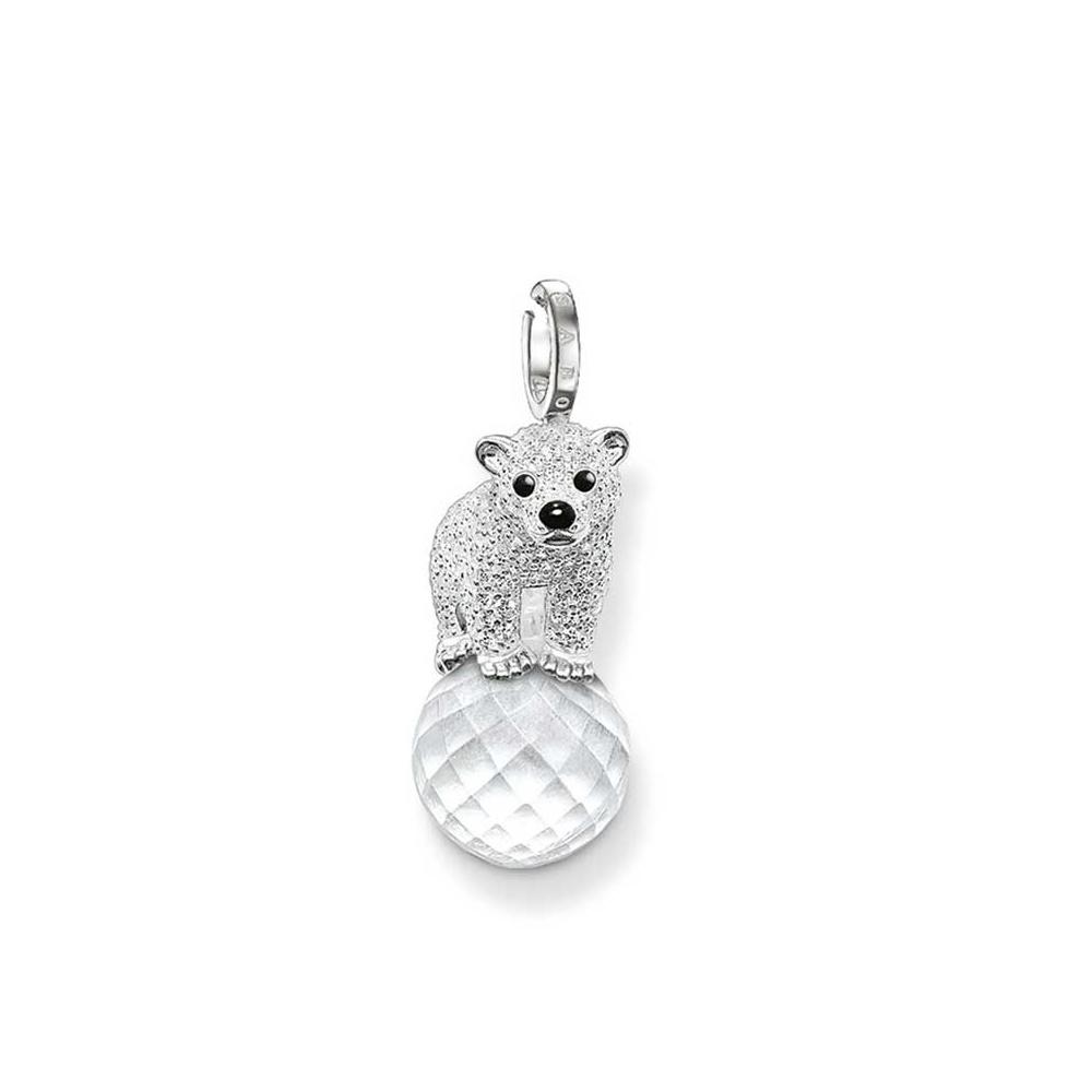 Thomas Sabo Polar Bear Amp Rock Crystal Pendant Jewellery