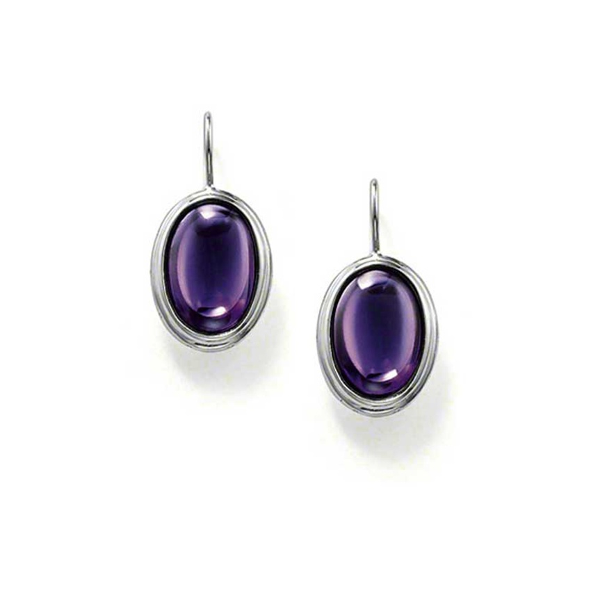 Thomas Sabo Purple Oval CZ Dropper Earrings H1713-051-13
