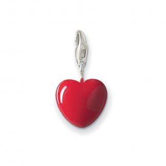 Red Enamel Heart Charm 0016-007-10