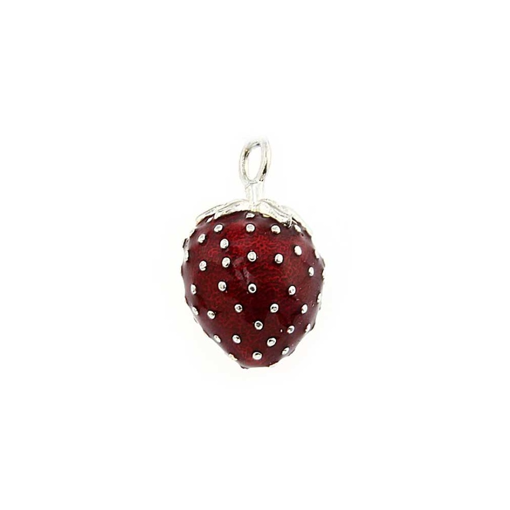 Thomas Sabo Strawberry Pendant Thomas sabo red enamel strawberry pendant jewellery from francis red enamel strawberry pendant audiocablefo