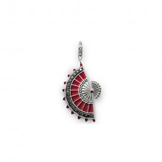 Red Fan Pendant T0300-041-10