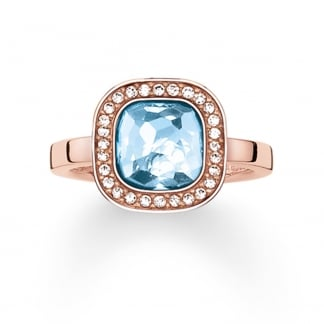 Blue Secret of Cosmo Rose Gold Ring TR2029-635-1