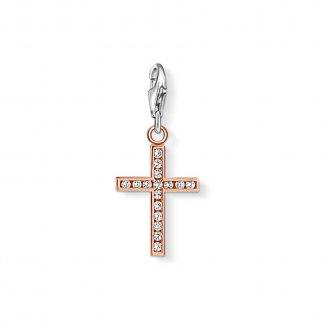 Rose Gold Cross Charm 0942-416-14