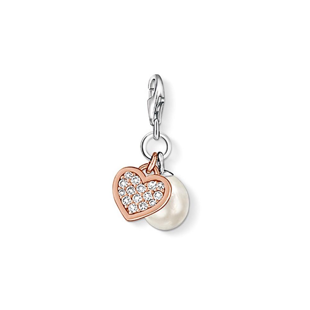0902 426 14 thomas sabo heart pearl charm francis gaye jewellers. Black Bedroom Furniture Sets. Home Design Ideas