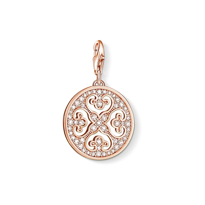 Thomas Sabo Rose Gold Plated Ornament Charm 0994-416-14