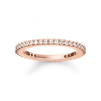 Rose Gold Skinny Eternity Ring TR1980-416-14