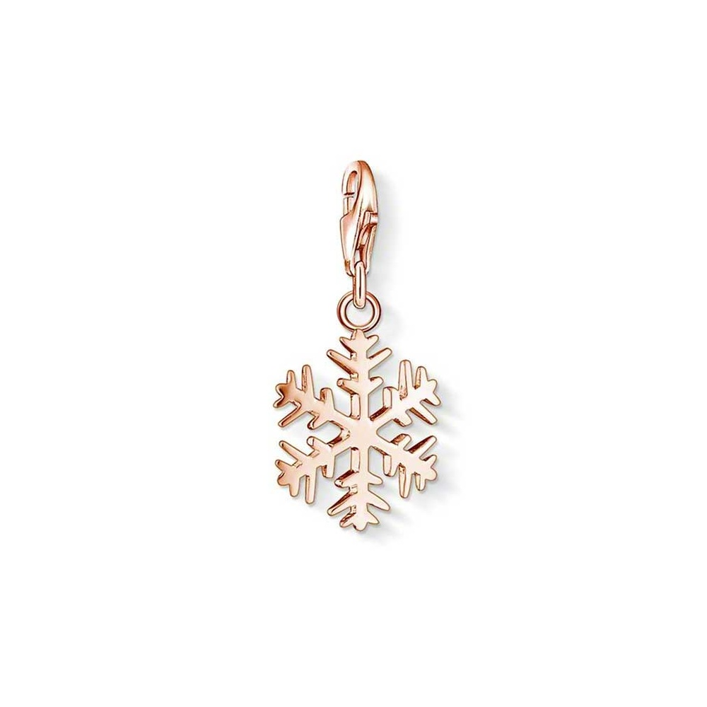 thomas sabo rose gold snowflake charm jewellery from francis gaye jewellers uk. Black Bedroom Furniture Sets. Home Design Ideas