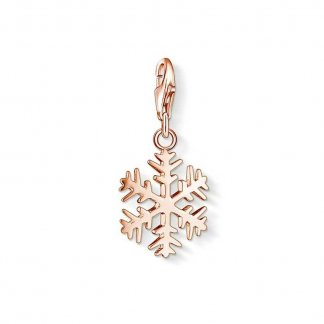 Rose Gold Snowflake Charm 1029-415-12