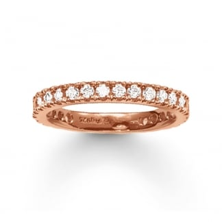 Rose Gold Thick Eternity Ring TR1981-416-14