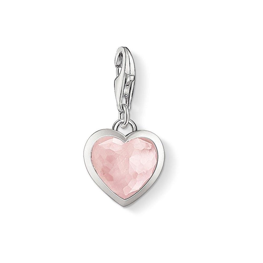 thomas sabo rose quartz heart charm jewellery from francis gaye jewellers uk. Black Bedroom Furniture Sets. Home Design Ideas