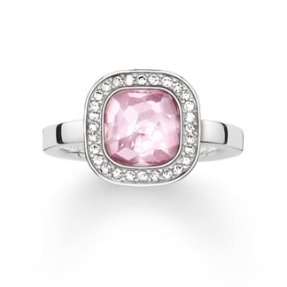 Silver and Pink Secret of Cosmo Ring