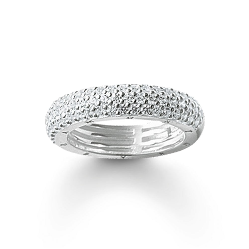 1f41e49afce Thomas Sabo Silver and Stone Set Three Band Eternity Ring Product Code:  TR1777-051-14