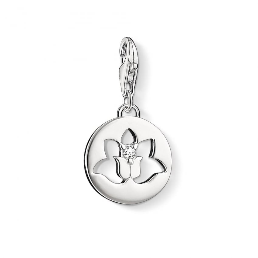 Thomas Sabo Silver Cut Out Lotus Charm 1301-051-14
