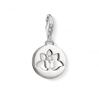 Silver Cut Out Lotus Charm