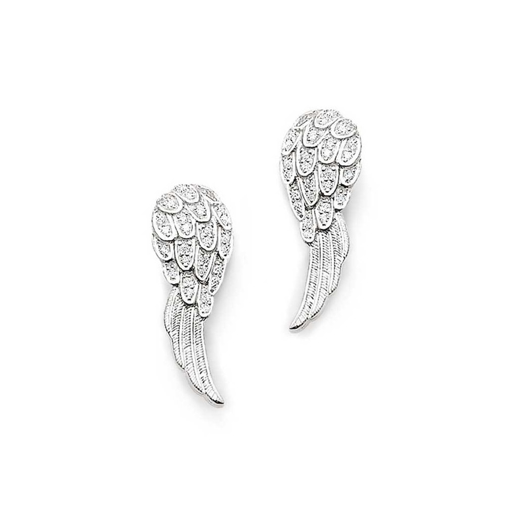 Thomas sabo silver cz angel wing stud earrings jewellery from silver cz angel wing stud earrings mozeypictures Choice Image
