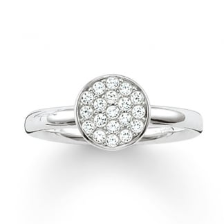 Silver Glam and Soul Pave Set Ring TR2050-051-14