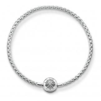 Silver Karma Bead Bracelet KA0001-001-12