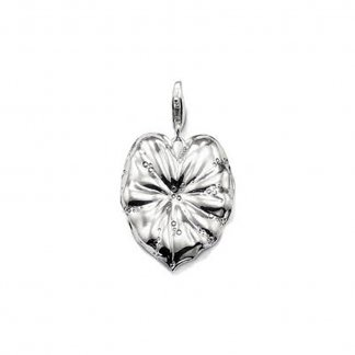 Silver Lily Pad Pendant T0265-001-12